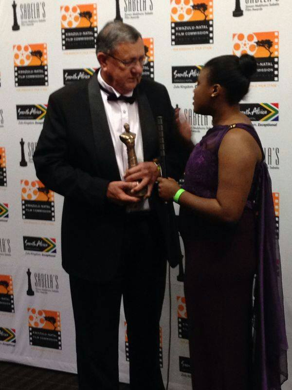 "Tonie Van Der Merwe for winning the ""Heroes and Legends Award"" at The Durban International Film Festival"