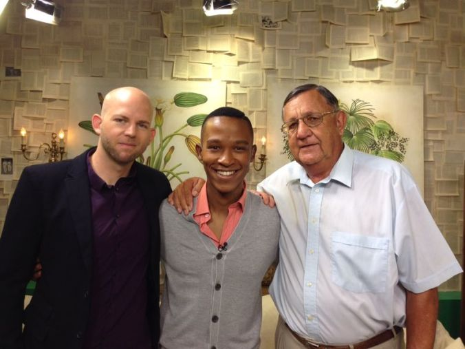 Benjamin Cowley, Katlego Maboe and Tonie vd Merwe on the Expresso Show on SABC