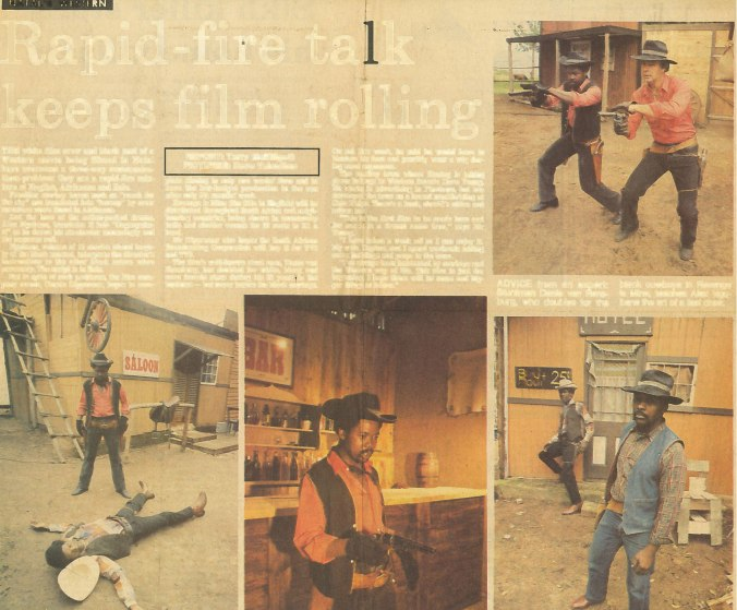 Newspaper Article 1970's South African Cinema